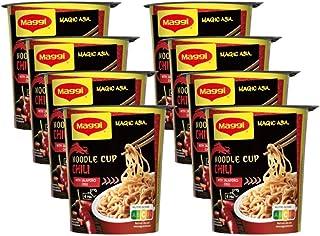 Maggi Magic Asia Noodle Chili Cup, Instant Nudel-Snack, asiatisches Fertiggericht, scharf gewürzt, 8er Pack 8 x 63g