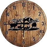 OSG Cabin Wall Clock Wildlife Scene Deer Elk...