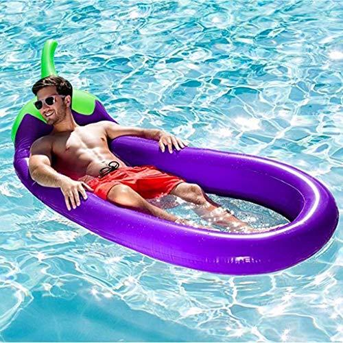 Sixcup Aufblasbare Auberginen Pool Float, Freibad Raft Riesen Lila Pool Lounge Sommer Party Beach...