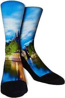 Octopus Halobios Unisex Novelty Cute Dress Socks Cotton Athletic long Crew Socks Gift for Men Women