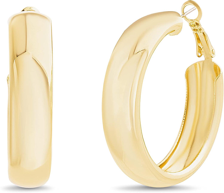 Steve Madden 41mm Chunky Hoop Earrings for Women