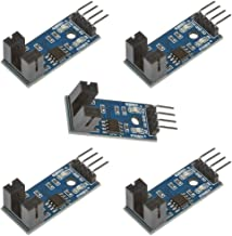 Anmbest 5PCS LM393 Speed Detection Sensor Module, Motor Measuring Comparator, Pulse Counter Module, 5mm Slot Type IR Optocoupler, for MCU Arduino RPI
