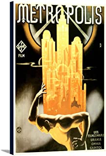 Metropolis Vintage Poster Hungary (24x36 Gallery Wrapped Stretched Canvas)