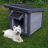 Caseta para perro, diseño básico para exteriores.