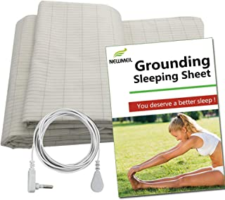 Grounding Sheet Connecting to Earth, Flat Grounded Sheet by Earthed Cotton Silver Conductive protection from Health (36*91...