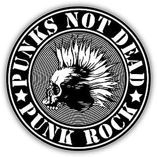 Punk Not Dead Skull Emblem Sticker Decal Design 5