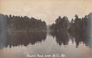 Locke Mills Maine Round Pond Scenic View Real Photo Antique Postcard J73086