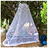 EVEN NATURALS MOSKITONETZ Bett, großes Mückennetz für Einzelbett, feinste Löcher, rundes Netz Vorhang, Insektenschutz Reise, 1 Eintrag, einfache Anbringung, Tragetasche, Keine...