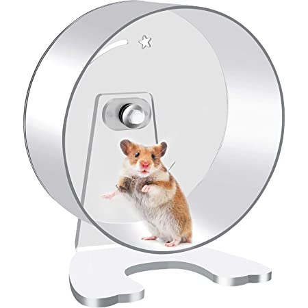 Zacro Hamster Exercise Wheel - 8.7in Silent Running Wheel for Hamsters, Gerbils, Mice and Other Small Pet