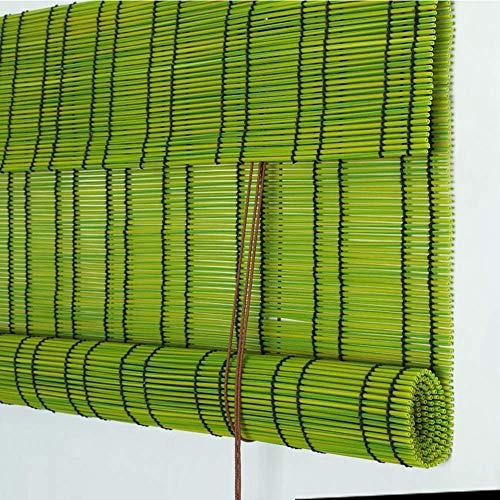 YUANP Rollläden PE Level Halbprivater Sonnenschutz UV-Grün Kindersicherheit Outdoor Restaurant Balkon Bambusvorhang,B-90x220