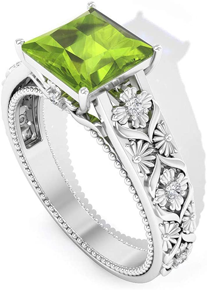 Max 48% OFF Bargain sale 1.65 Ct Solitaire Peridot Ring Vintage Engagement Wedding