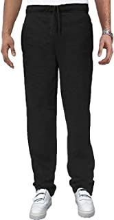 Carabou Mens Open Hem Gym Running Joggers Sweat Pants Tracksuit Bottoms