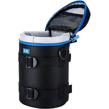 PROfoto.Trend/JJC Deluxe Objektiv Tasche mit 1 x Umhängeband, Wasserabweisend, Schwarz, passt Objektiv Durchmesser und Höhe unter 113 x 215mm (4.4 x 8.5)