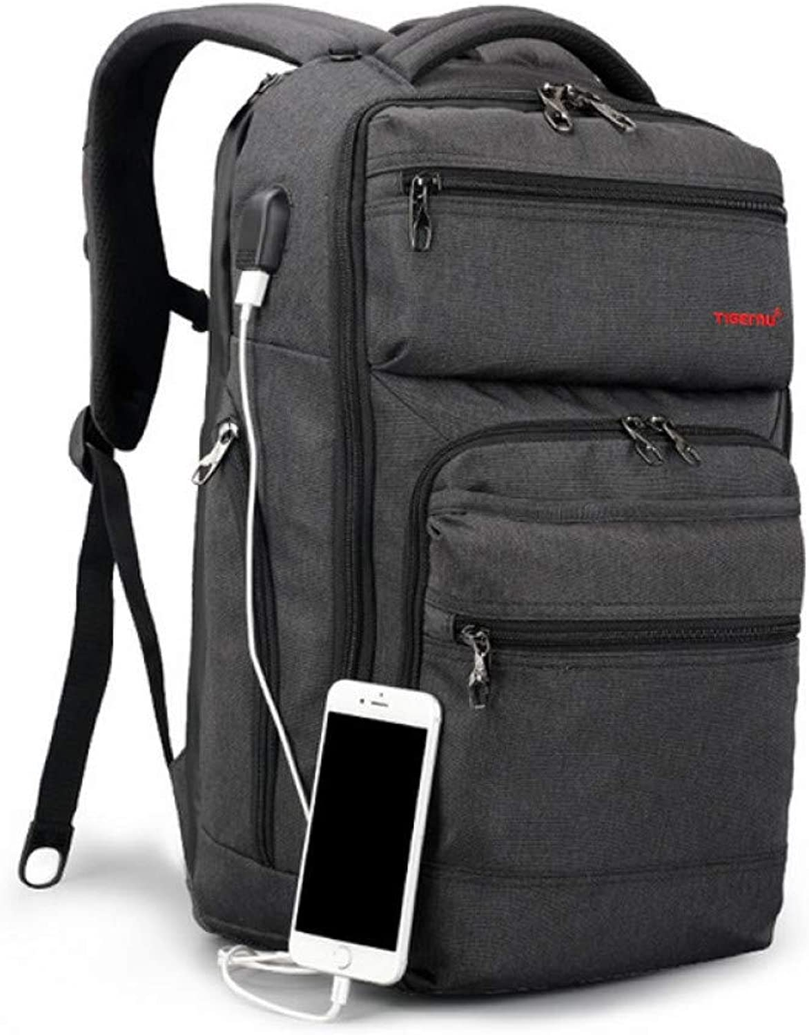 HUYANNABAO Slim Business Laptop Backpack Anti Theft Backpacks with USB Charging Port College School Backpacks