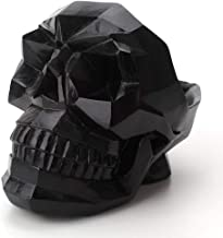 Artificial Resin Skull Head Cell Phone Stand,t Bowl Container Garden Planter Multifunctional Tabletop Storage Tank Replica Skeleton Model Home Bar Table Decor Ornament (Black)