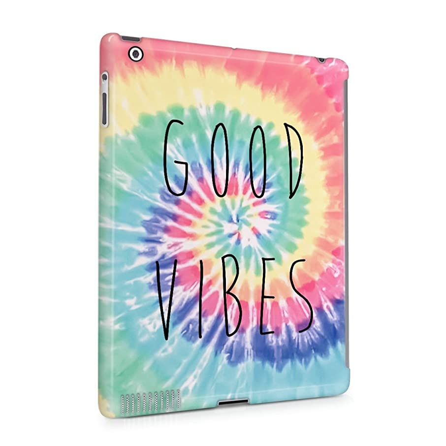 Good Vibes Only Trippy Tie Dye Plastic Tablet Snap On Back Cover Shell For iPad 2 & iPad 3 & iPad 4