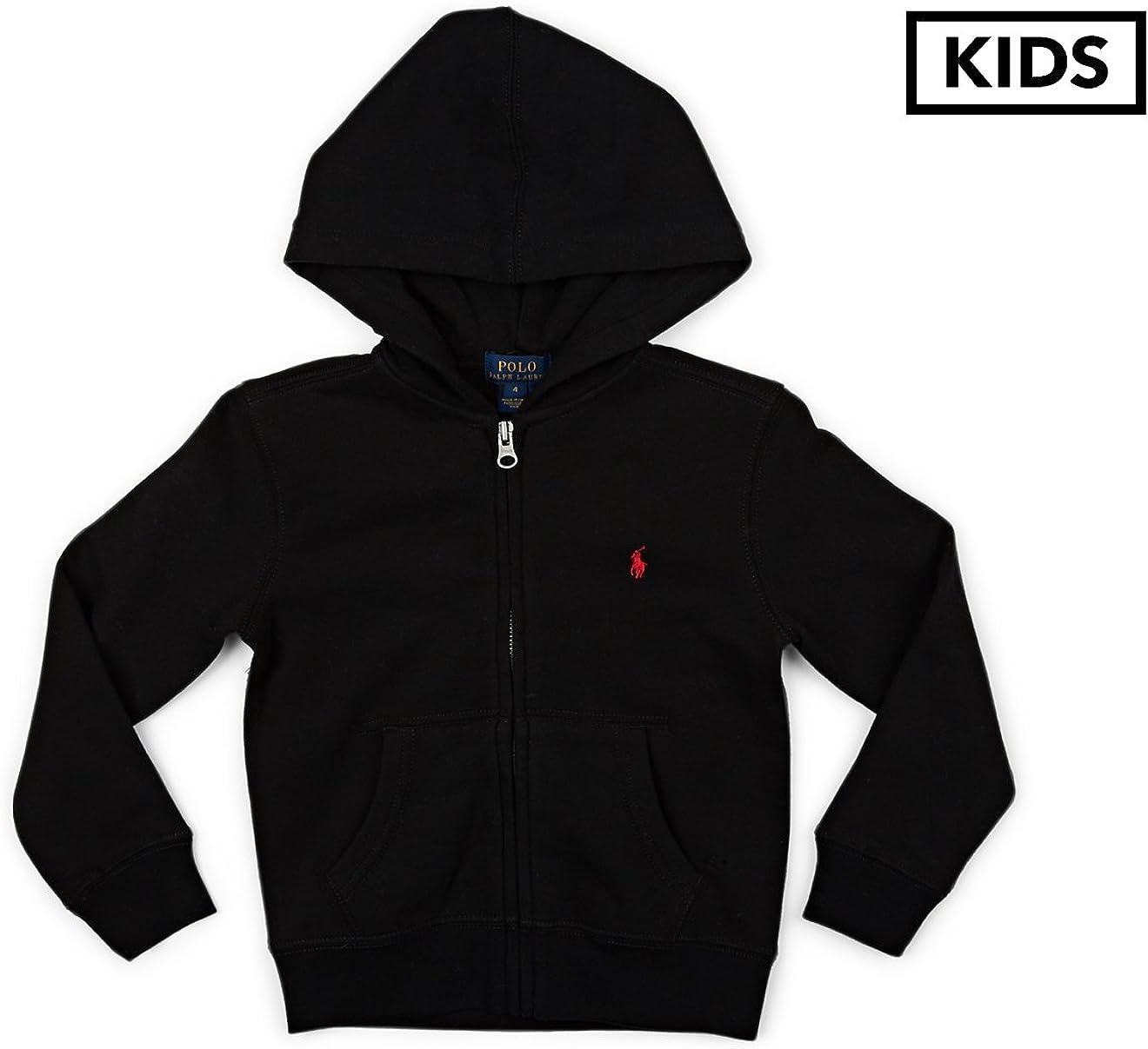 Polo Ralph Lauren Kids Collection Fleece Full-Zip Hoodie Little Kids Polo Black Boy's Fleece