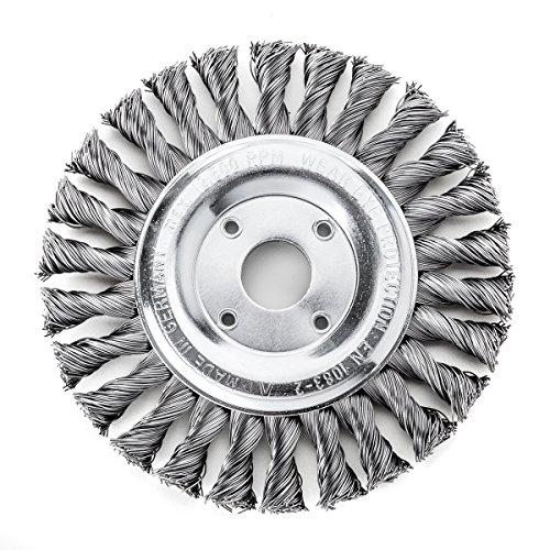 less tresse Bonhomme de brosse ronde 115 x 14 mm 20 Z STH lisse 0,35 mm alésage 22,2 mm, 472111