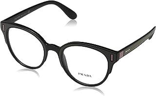 80f11b52b8 Prada 0PR 08UV Monturas de gafas, Black/Brown/Pink, 50 para Mujer