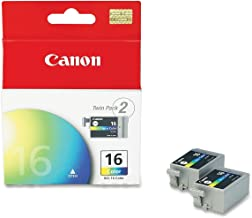 Canon BCI-16 9818A003 Pixma iP90 Mini200 Selphy DS-700 DS-810 Ink Cartridge (Color, 2-Pack) in Retail Packaging