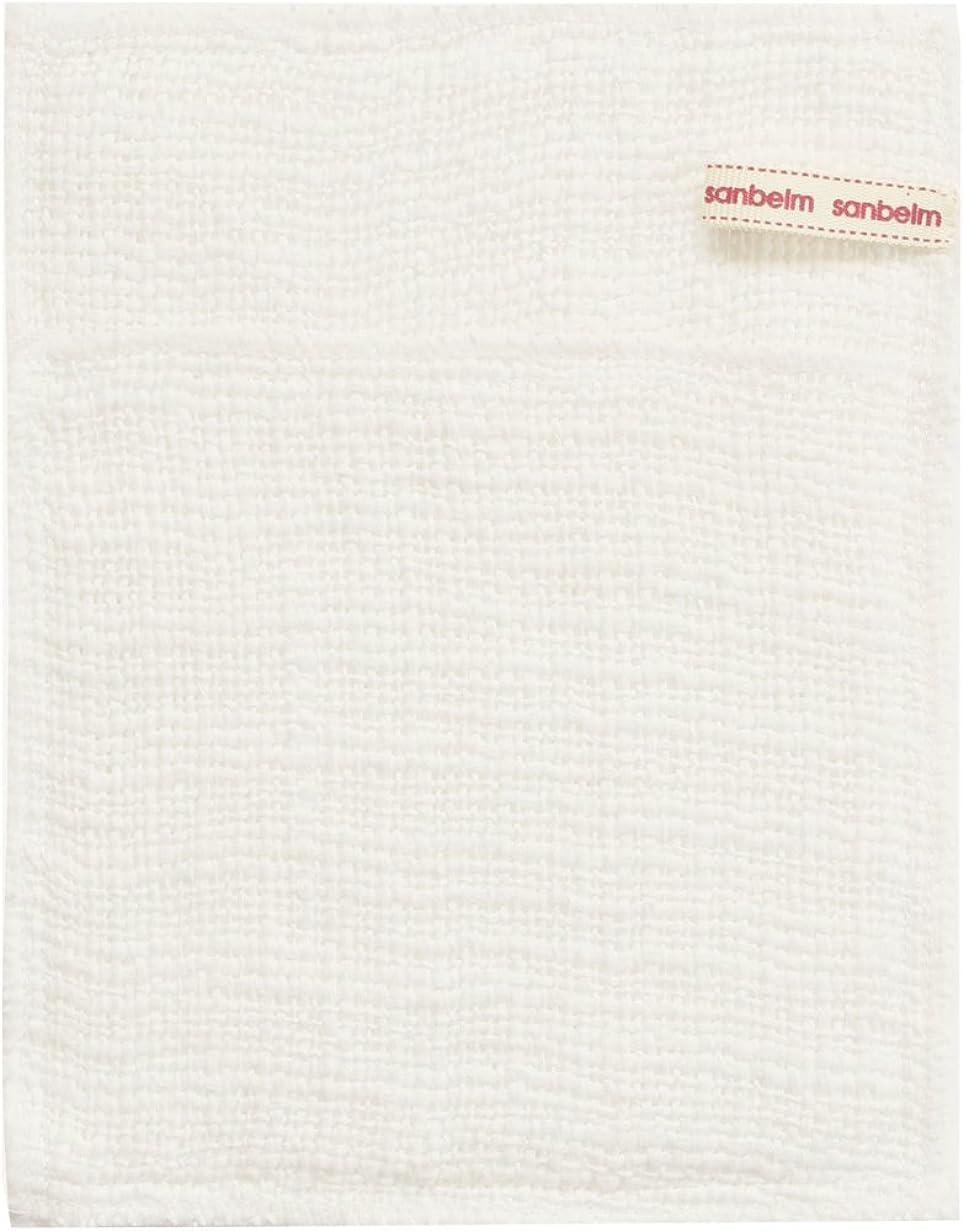 財布朝ごはんそばにサンベルム (SANBELM) お風呂 体洗い 綿100%生地使用 ボディタオル ホワイト 約16x21cm ボディケアミトン  B34613