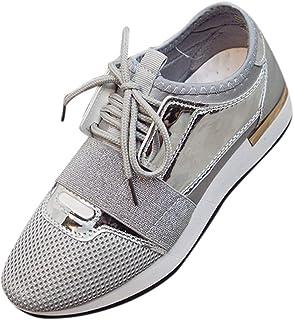 Routefuture Femme Baskets Mode Sneakers Tennis Chaussures Casuel Lacet Femme - Chaussure De Sport Femme - Sneakers Chaussu...