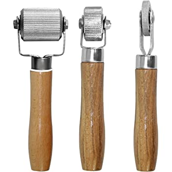 Ownmy 3pcs Car Sound Deadening Roller Metal Sound Noise Insulation Tool For Auto Noise Roller Car Sound Deadener Application Installation Tool With Rolling Wheel Wooden Handle Fit For Tire Tube Patch Speaker