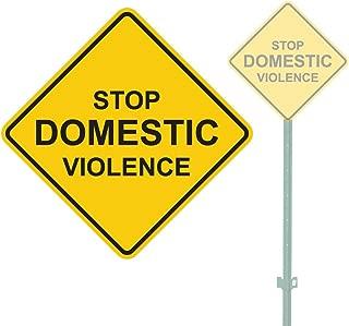 STOP DOMESTIC VIOLENCE HEAVY DUTY ALUMINUM SIGN 11