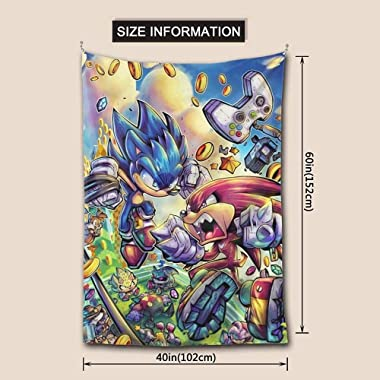 N-E Sonic The Hedgehog Tapestry Wall Hanging Wall Art Decoration for Bedroom Dorm Home Decor 60x40 inch multicolored