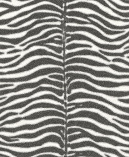 Vliestapete Zebra Fell Optik elegant von Rasch Tapeten 2 verschiedene Farben (865813)