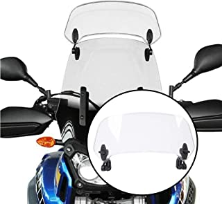 Motorcycle Adjustable Clip On Windscreen Wind Deflector Universal Windshield Extension Spoiler for Kawasaki BMW Ducati Konda Benelli KTM 690 Suzuki Yamaha MT-09 MT07