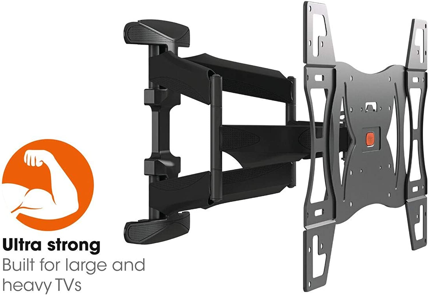 Vogel's BASE 45 L Ultrastarke TV-Wandhalterung für besonders gre (102-165 cm, 40-65 Zoll) oder schwere (max. 45 kg) Fernseher, 180° schwenkbar und neigbar, VESA max. 600 x 400, schwarz