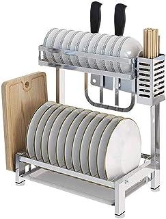 rangement et organisation de cuisine 2 304 Tier Fournitures de cuisine en acier inoxydable étagère de rangement Countertop...