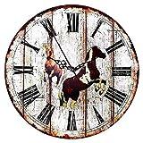 Reloj de Pared de Madera de 30cm - Reloj Manecillas Silenciosas Números Vintage...