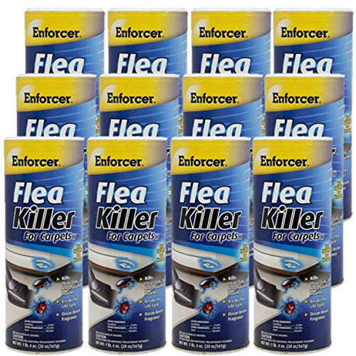 Enforcer Flea Killer for Carpets EFKOB203 (Case of 12) Economy Pack Kills Fleas, Ticks, lice, Ants, Silverfish, roaches and More