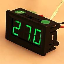 Dchaochao XH-B310 Termómetro digital LED industrial, medidor de temperatura K-Type Termopar 12V -30-800°c