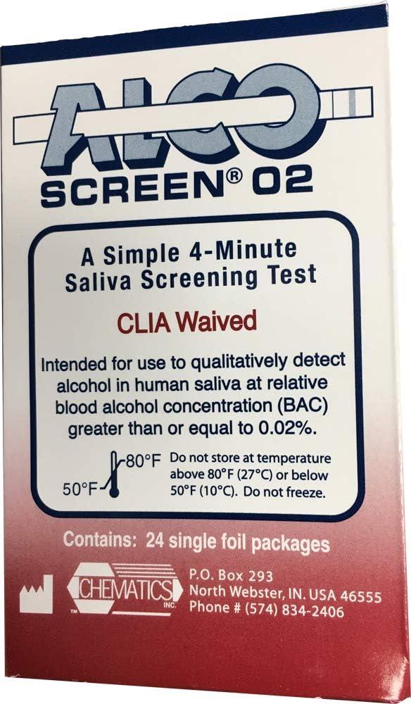 55% OFF ALCO-Screen 0.02 Box 24 Zero - Tolerance Test Max 54% OFF CH5602 Alcohol