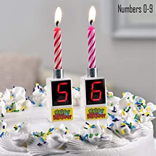 2Pk Musical Happy Birthday Candle Cake Topper Digital Number 0 9 Home Gift Party