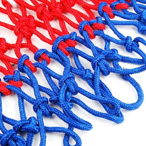 Accessotech Standard Durable Nylon Basketball Goal Hoop Net Netting Red/White/Blue Sports