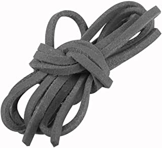 TMYQM Cheap black leather suede lace cord rope string bracelet necklace gift craft diy strap ES4614 (Color : Dark Grey)