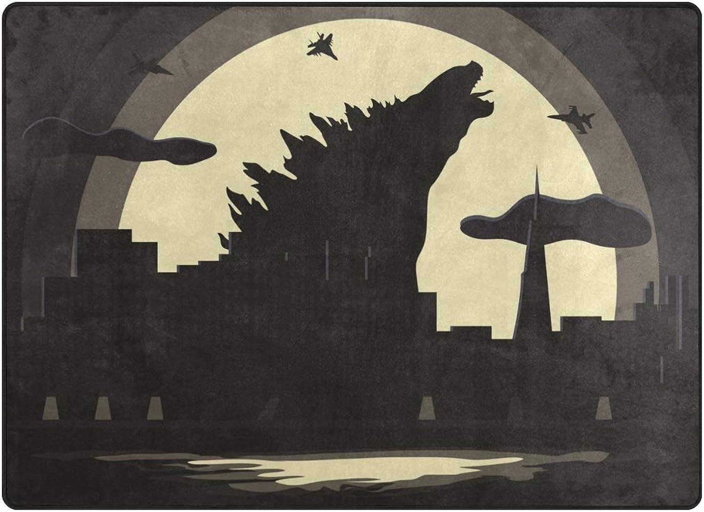FAJRO City War with Godzilla Polyester Entry Way Doormat Area Rug Multipattern Door Mat Floor Mats shoes Scraper Home Dec Anti-Slip Indoor Outdoor