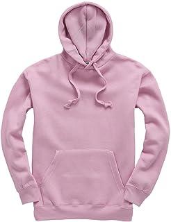 0816a2a0 Plain Pullover Hoodie Hooded Top Unisex Mens Ladies Hooded Sweatshirts