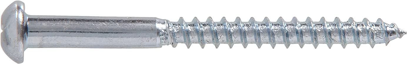 The Hillman Group 21166 1 1 1 10 x 1-Inch Round Head Phillips Wood Screw, 100-Pack