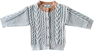 Xifamniy Infant Baby Spring&Autumn Knitted Sweater Twist Shape Coat Fashion Cardigan