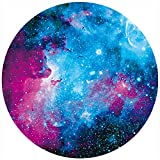 BOSOBO Mouse Pad, Round Nebula Galaxy Mouse Pad, Personalized Designs, Dual Stitched Edges, Anti-Slip Rubber Base, Customized Mousepad for Women Girls Office Computer Laptop Travel, 7.9 x 7.9 Inch