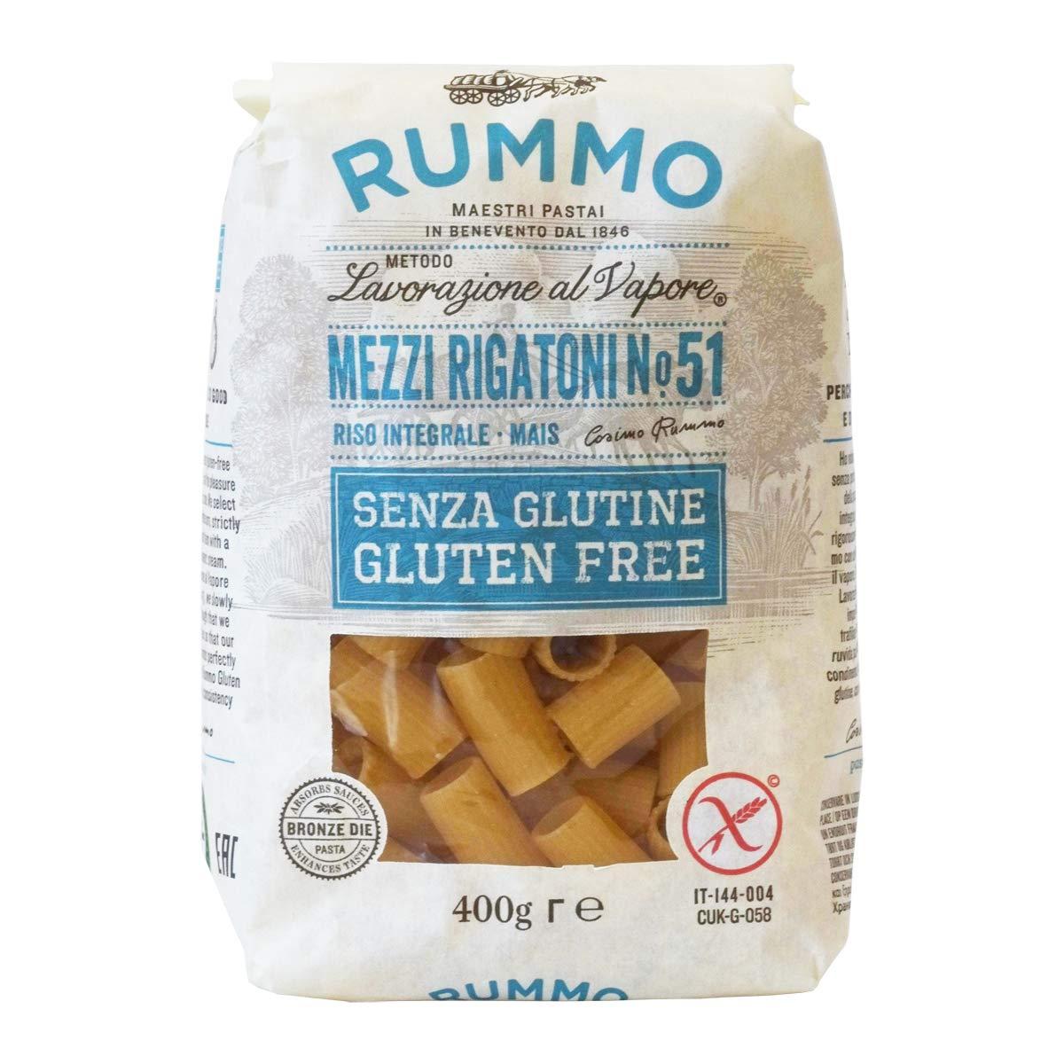 Rummo Mezzi Rigatoni Topics Mail order on TV N ° 51 Pasta 14 Free Gluten Italian