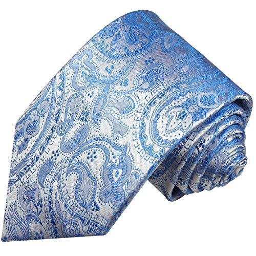 Krawatte 100% Seide blau paisley by Paul Malone