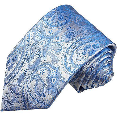Cravate homme bleu paisley 100% soie