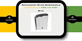 Replacement Water Reservoir for Keurig 2.0 K500 and K550 - 80-oz.