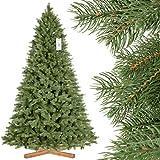 FairyTrees Artificiale Albero di Natale Abete Reale Premium, Mix di Materiali tra pressofuso e PVC, incl....